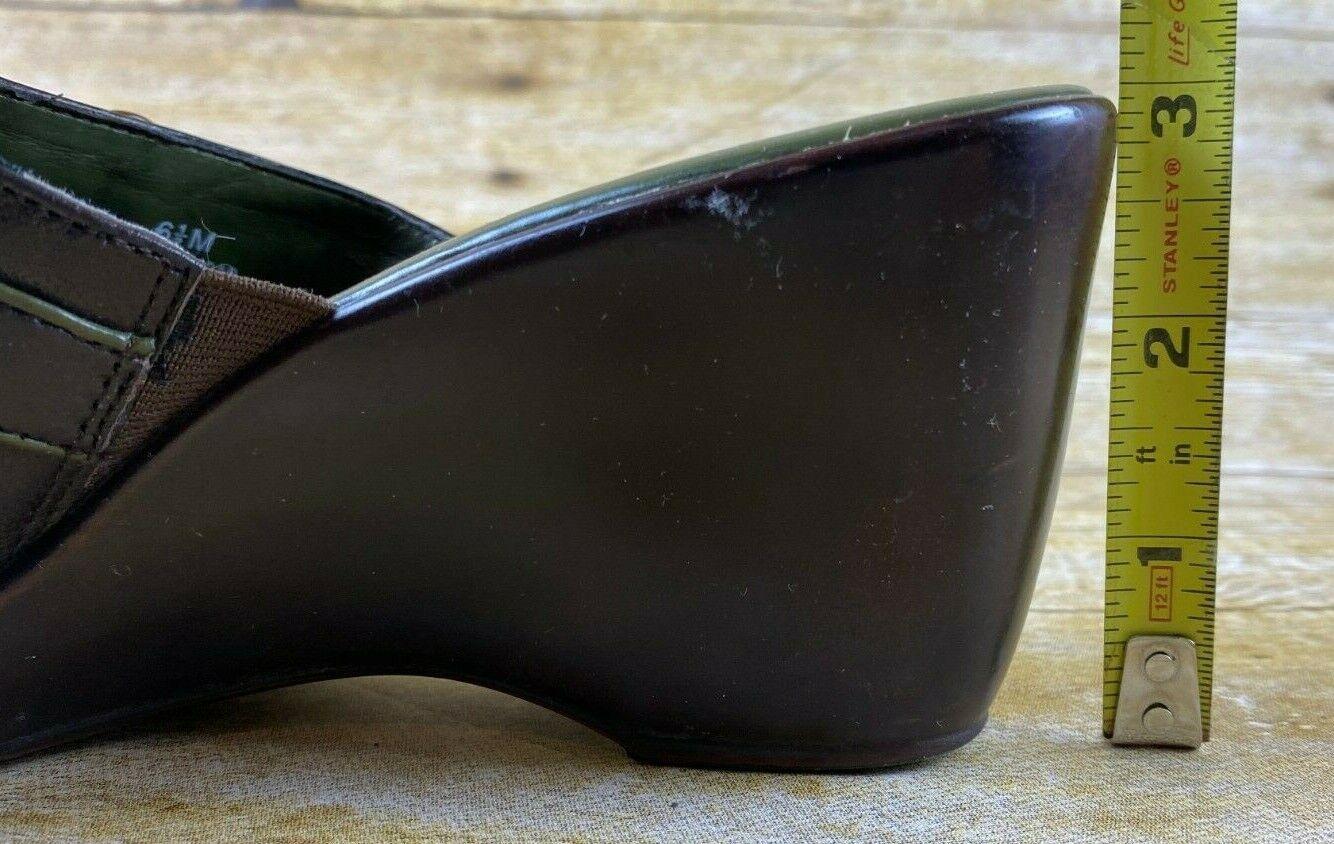 Tommy Hilfiger Hydrangea Dark Brown Mule Wedges C… - image 11