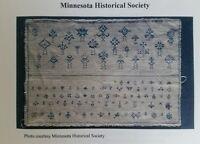 The Blue Clocks Sampler Cross Stitch Pattern Minnesota Historical Reproduction