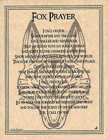 FOX PRAYER Poster Animal Spirit 8 1/2 X 11 Art Page Wicca Native Am Celtic