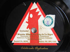 78rpm GABRIEL FORMIGGINI - I Wonder Where My Baby is Tonight - VOX 8224