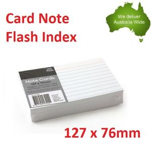 Index Cards Feint Ruled Notes Flash Card Line Paper presentation White 200 gsm
