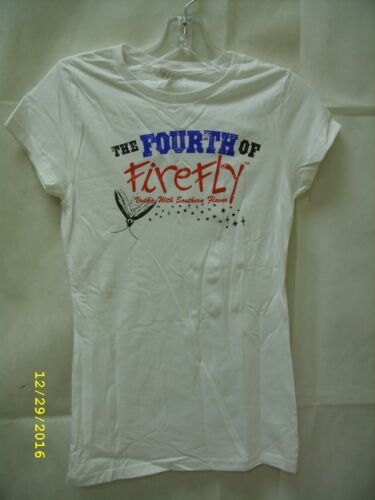 "Firefly Sweet Tea Vodka /""Fourth of Firefly/"" Ladies Promo T-Shirt *NEW*"
