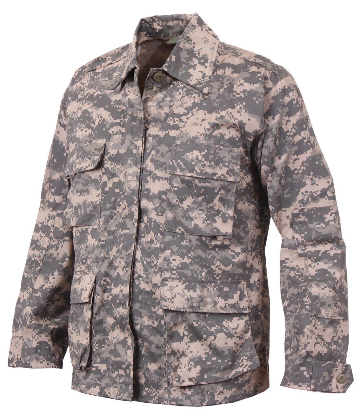 Army ACU Digital Camo BDU Shirt Military Style Uniform Coat redhco 8695