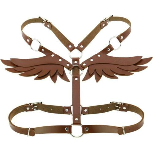 Wings Leather Harness Goth Punk Body Chain Women Garters Strap Bondage Bdsm New