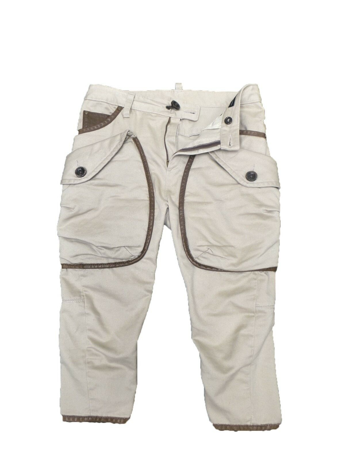 DSQUARED2 Khaki\Beige Cropped Pants size 42