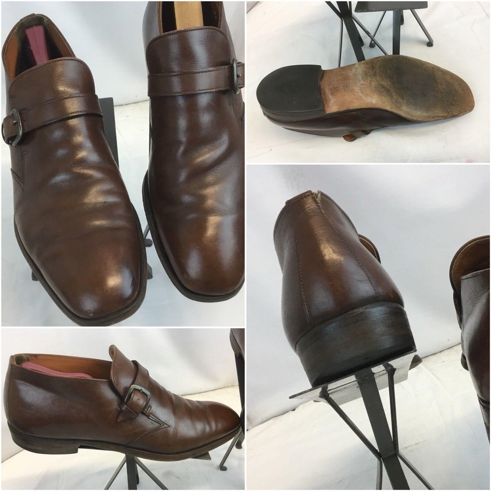 E.T. Wright Monk Strap new shoes shoes 12 B Brown Leather Made USA EUC YGI E8