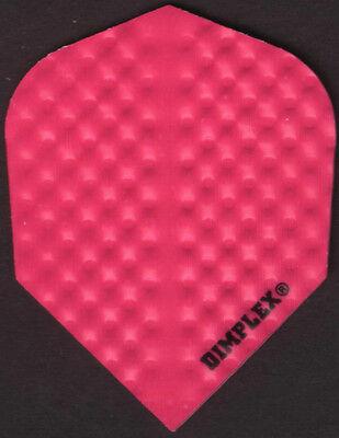 All Pink Dimplex Dart Flights: 3 per set