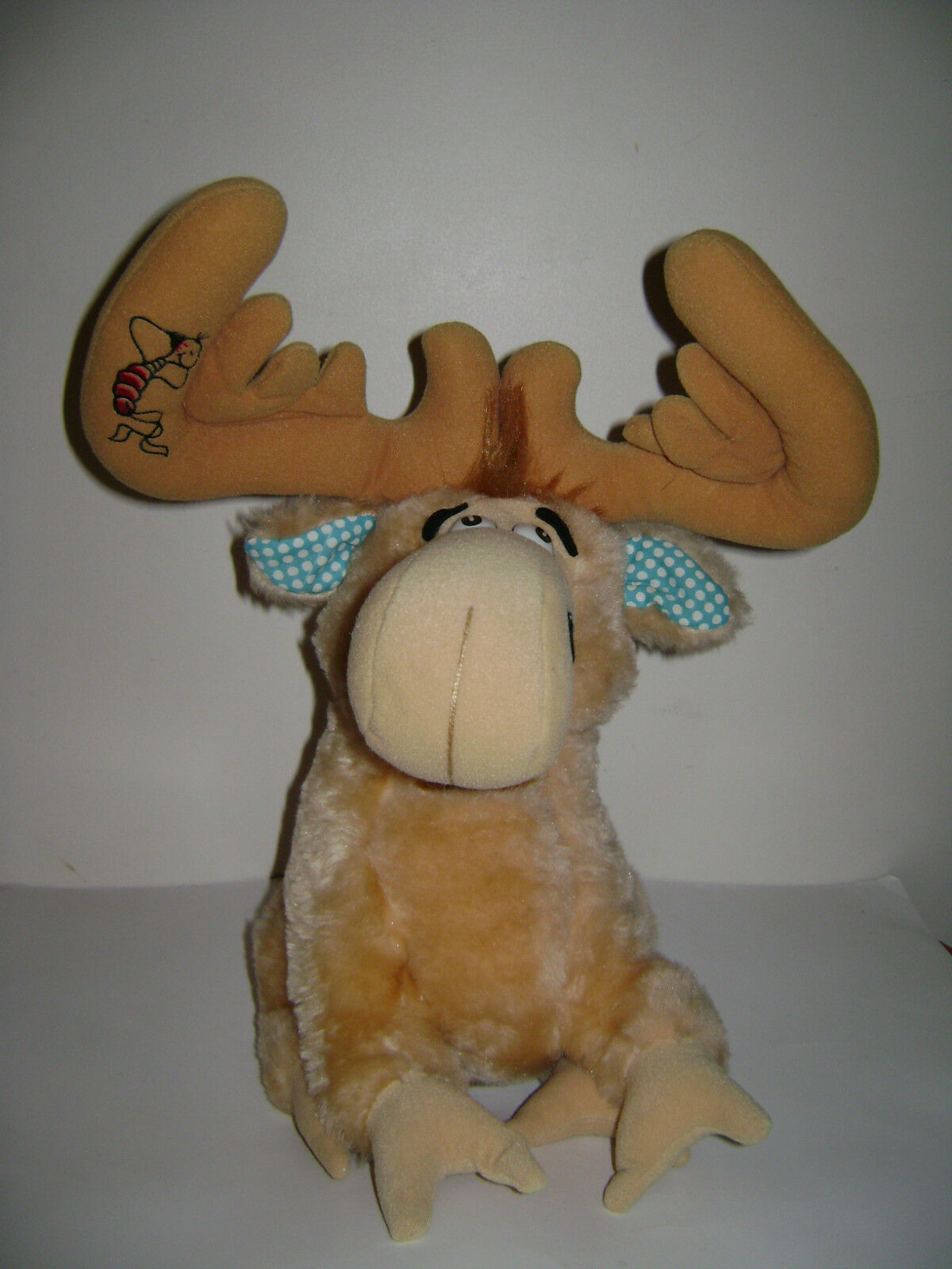 1983 DR. SEUSS MOOSE PLUSH TOY STUFFED ANIMAL TAN GoldEN THIDWICK BIG HEARTED