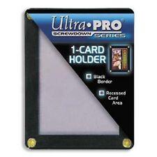 (3) Ultra Pro 4-Screw 1-Card Black Border Screwdown Holder Recessed Ultra Clear