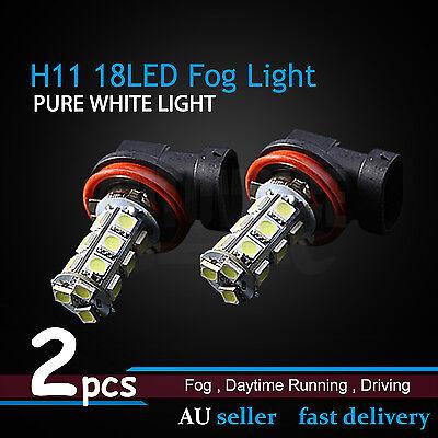 2pcs H11 White Fog Head Light LED Bulbs For Ford Falcon FG G6/XR6 XR8 2008-2014