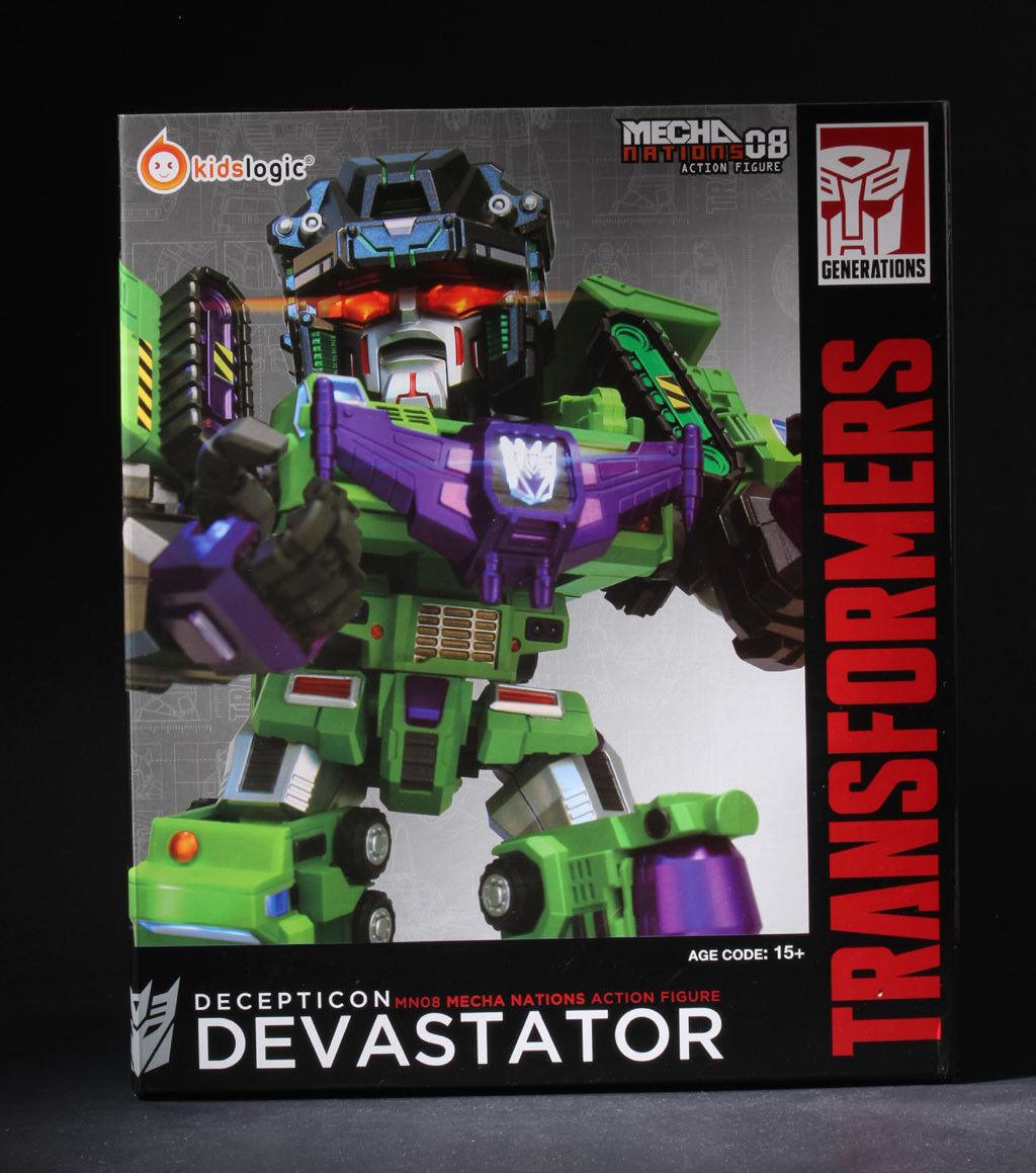 Kids Logic MN08 Mecha Nation Transformers Decepticon Devastator LED Figure