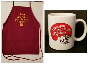 """McDONALD'S """"HAVE YOU HAD YOUR BREAK TODAY"""" APRON & COFFEE  MUG (1990s)"""