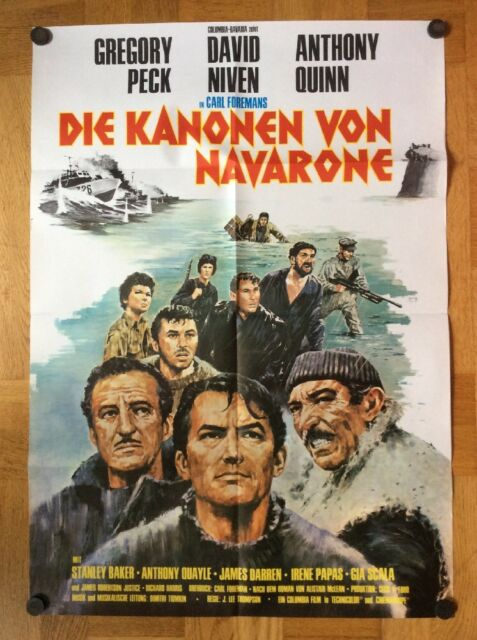 Kanonen von Navarone (Kinoplakat ´66) Gregory Peck / David Niven / Anthony Quinn