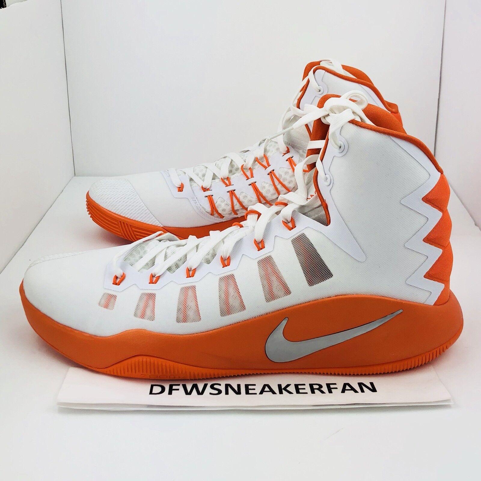 Nike hyperdunk 2016 alto uomini dimensioni scarpe da basket bianco arancio 856483-180