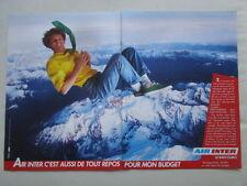 6/1988 PUB COMPAGNIE AERIENNE AIR INTER AIRLINE ORIGINAL FRENCH AD