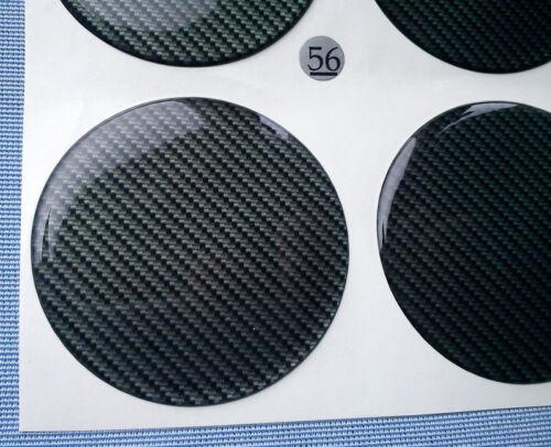 4x carbon lock emblemas para llantas tapa 56mm silicona pegatinas 3d 56c