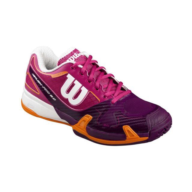 Reg $130 WILSON RUSH PRO womens tennis shoes sneakers white//blue