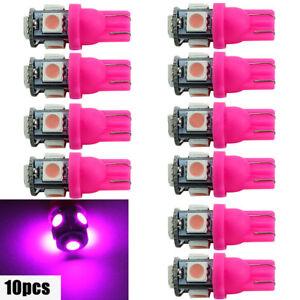 Auto-Lampe-de-queue-T10-5050-SMD-5-LED-194-168-W5W-Wedge-Pink-ampoules-xenon-10