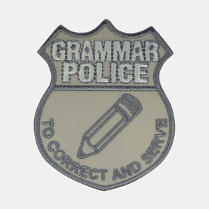 Pencil Icon Grammar Police Sew or Iron On Applique Novelty Patch Badge