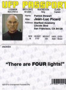 Star-Trek-Captain-Picard-PATRICK-STEWART-plastic-fake-ID-card-Drivers-License