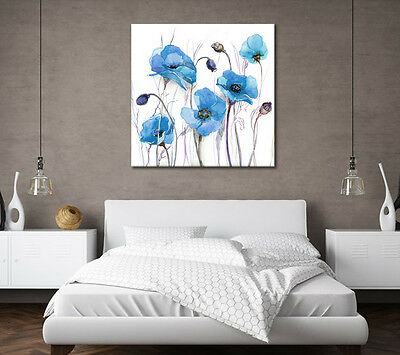 LARGE BLUE CANVAS PICTURE ZEN CALMING PAINTING WALL ART STUNNING NEW PRINT