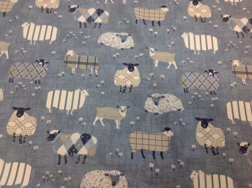 iliv SMD Baa Baa Sheep Denim,Cotton Fabric.Curtains//Upholstery//Craft//Cushions