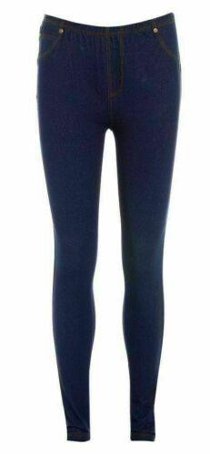 New  Women/'s Stretchy Denim Look Skinny Jeggings Leggings Plus Size