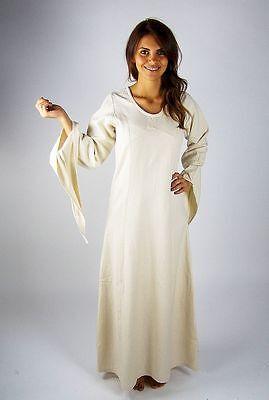 natur Gewandung Kleid Larp S M L XL XXL XXXL Mittelalterkleid schwarz