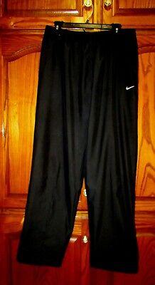Enthusiastic Men's Nike Sz L X 31 Blk 3 Pocket Elastic/drawstring Zip Hem Polyester Pants Euc Clothing, Shoes & Accessories