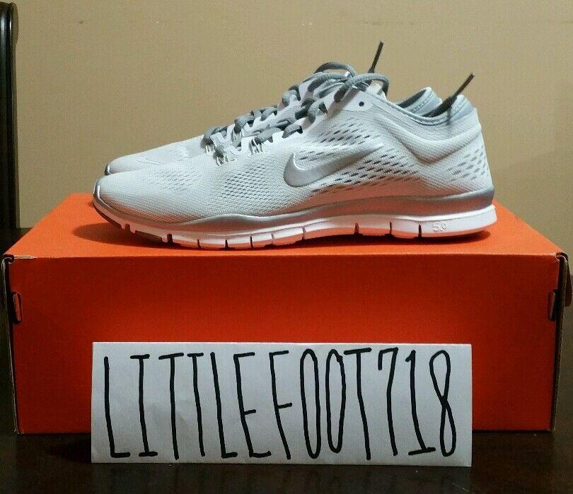 Mujeres Nike Free 5.0 TR FIT 4 blancooo Metálico Plata 629496 102 mujeres