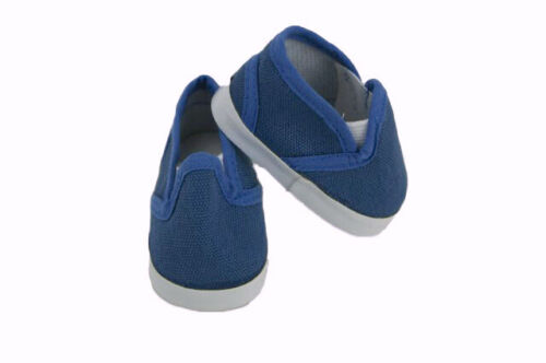 Navy Blue Canvas Shoes with Strap Fits American Girl Dolls Boy Doll Logan 18/""