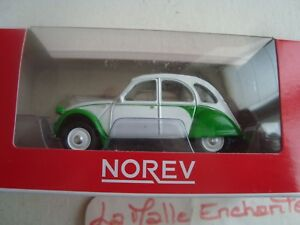 1-54-3-INCHES-CITROEN-2-CV-dolly-verde-blanco-NOREV-citroen