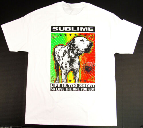SUBLIME LOU DOG T-shirt LBC Long Beach Cali Ska Punk Tee Adult S-2XL White New