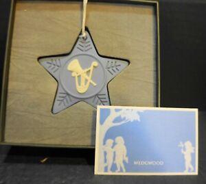 Wedgwood-Jasperware-Christmas-Ornament-Musical-Instruments-Star-With-Ribbon-NIB