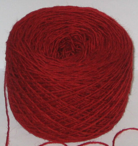 100g Red 100/% pure British Breed knitting wool yarn 4 ply  Please read carefully