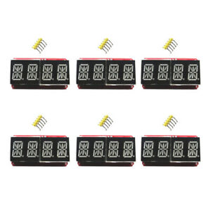6Pcs-Set-0-54-034-4-bit-Digital-LED-Display-Module-I2C-Interface-Arduino-Red-Orange