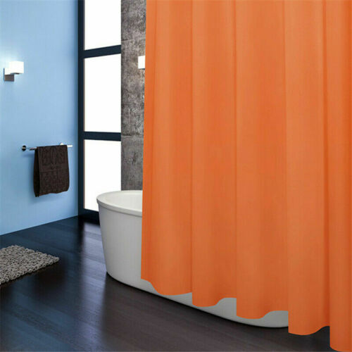 """71x71/"""" Mildew Resistant Shower Curtain Solid Liner 100/% Vinyl Curtains with Hook"""