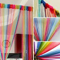 HOT  Window Curtain Panel Room Divider Curtain String Line Rainbow Tassel  Decor
