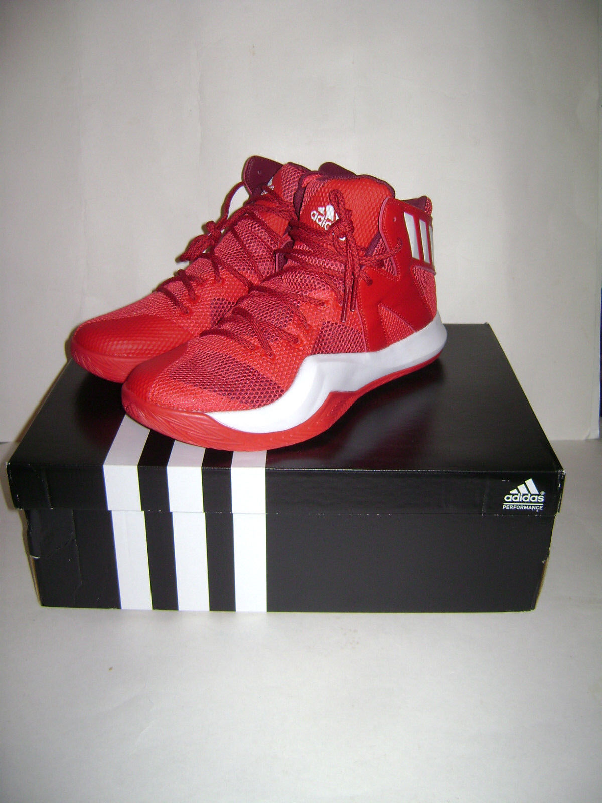 NIB ADIDAS Crazy Bounce Men Basketball shoes Sneakers size 13 13 13 Red White B72768 6b5514