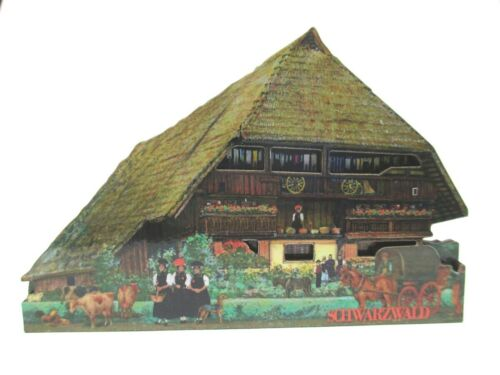 Schwarzwald Haus Holz Souvenir Magnet Black Forest Germany Neu