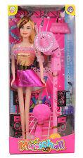 Tickles Pink Rockstar Doll Fashion Barbie Style Toy 30 cm DL003
