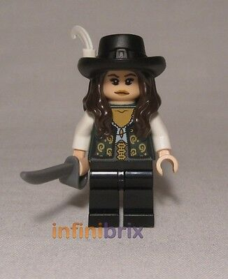 Lego Angelica Minifigure from set 4195 Pirates of the Caribbean NEW poc006