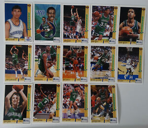 1991-92-Upper-Deck-Dallas-Mavericks-Team-Set-Of-16-Basketball-Cards