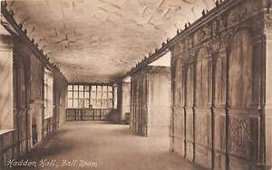 uk40394 ball room haddon hall  real photo uk