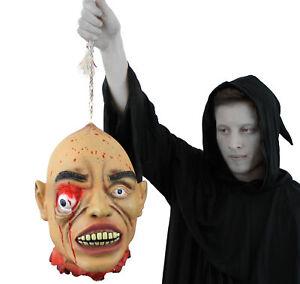 Suspension-tete-coupee-bombement-eye-life-size-halloween-prop-blague-gory-decoration