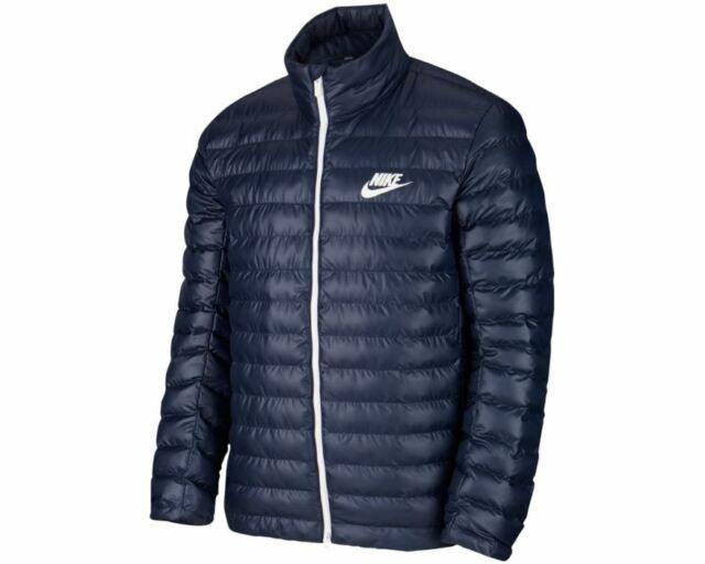 Nike Men Jacket Blue Sportswear Synthetic Fill Puffer Bv4685-452 Size Large
