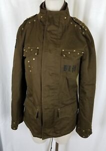 ef8ba501 Image is loading Blac-Label-Punk-Army-Green-Studded-Embroidered-Jacket-