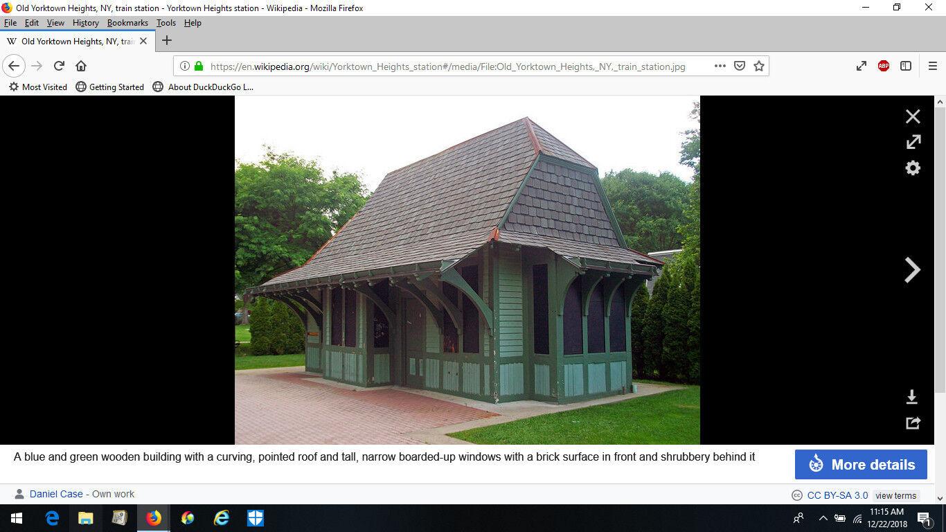 HO NYC Putnam Division Yorktown Station Craftsman Structure Kit