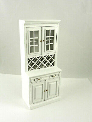 1//12 Dollhouse Miniature Wine Cabinet Wine Rack with Bottles Supplies Accs