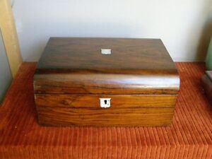 Antique-Victorian-Rosewood-Lapdesk-or-Writing-Slope-w-Mother-of-Pearl-inlays